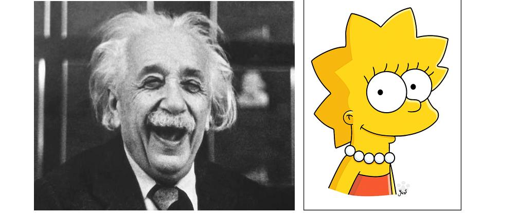 einstein e lisa simpson