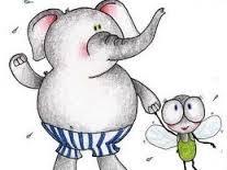 elefante e mosca