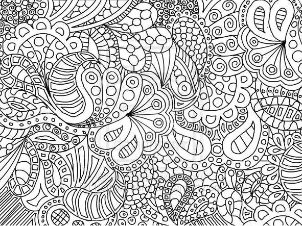Mandala o doodle gli stivali delle 7 leghe for Super hard abstract coloring pages for adults